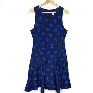 J. Crew Navy Blue fit and flare Floral Dress
